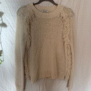 Madewell Loopy Fringe Raglan Sweater